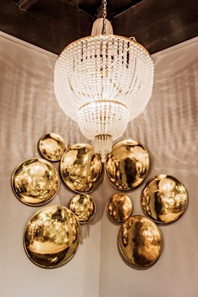 Karenina Chandelier, Antique Brass