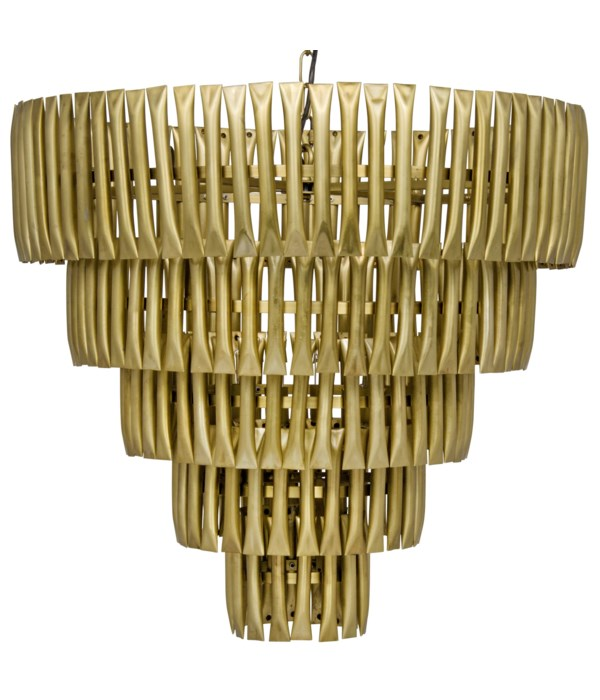 Lord Chandelier, Metal with Brass Finish