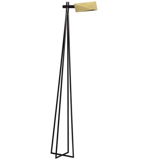 Parma Floor Lamp, Antique Brass