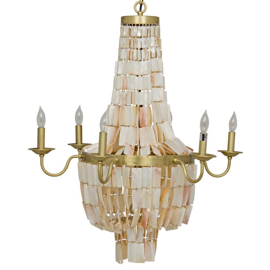 Bijou Chandelier, Antique Brass, Metal and Shells
