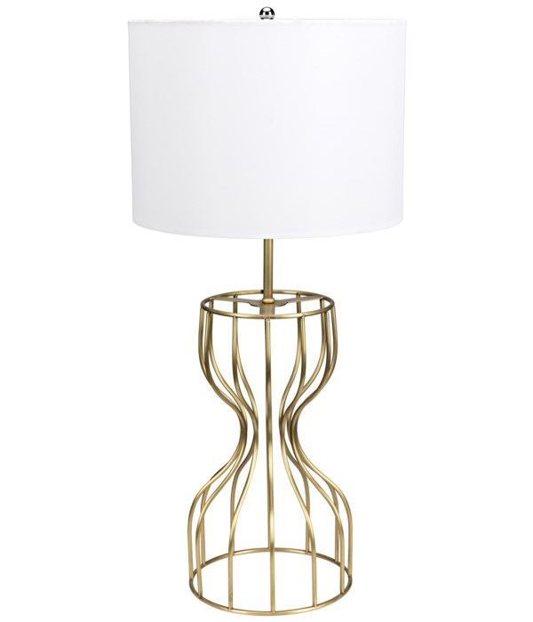 Perry Table Lamp with Shade, Metal with Brass Finish