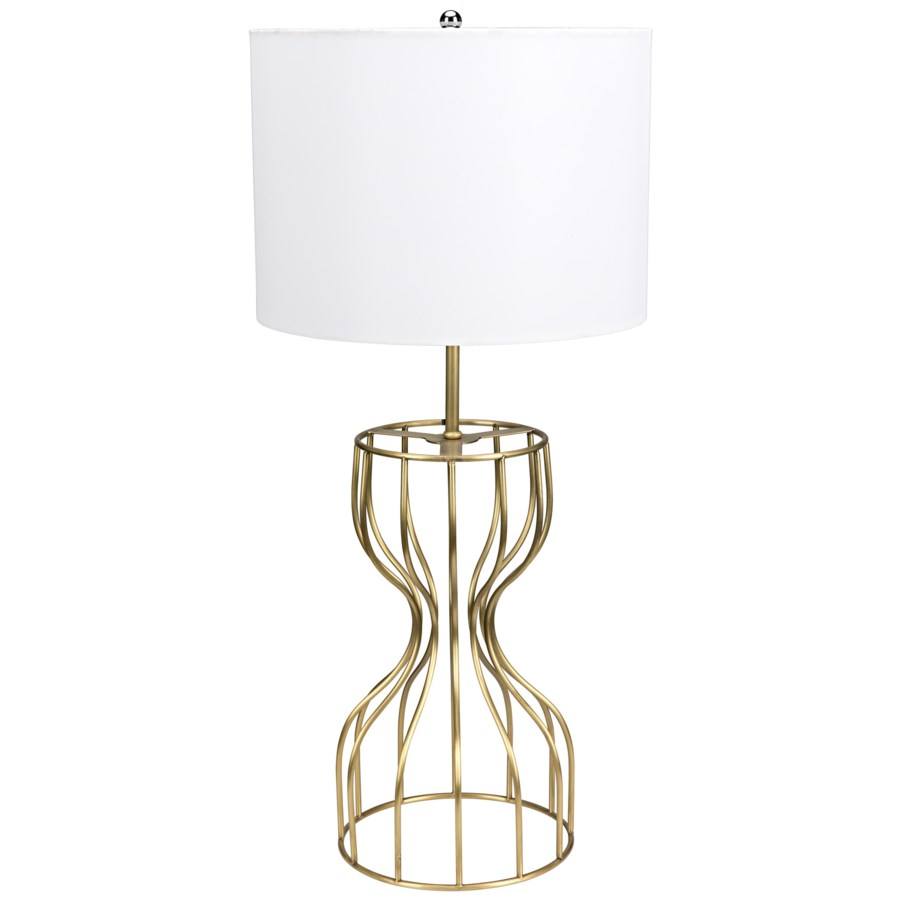 Perry Table Lamp, Antique Brass