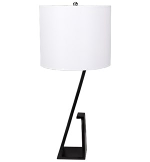 Zander Table Lamp with Shade, Black Metal