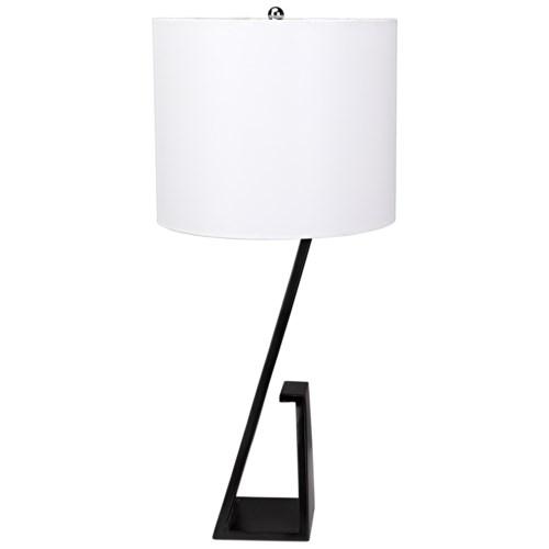 Zander Table Lamp with Shade, Black Metal
