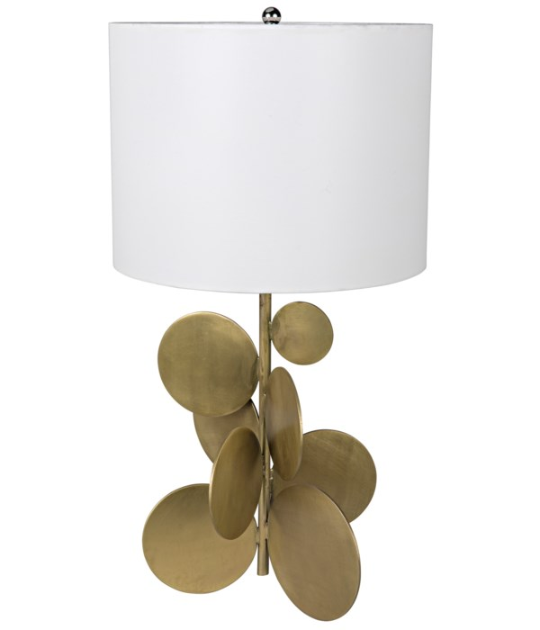 Vadim Table Lamp with Shade, Metal with Brass Finish