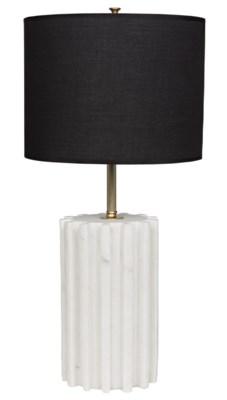 Z Gogol Table Lamp, White Stone