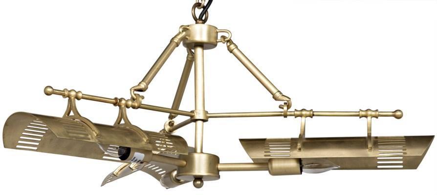 Task Chandelier, Antique Brass