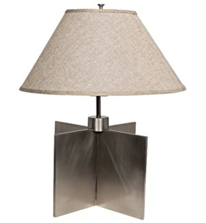 Architectural Lamp with Shade, Silver Finish