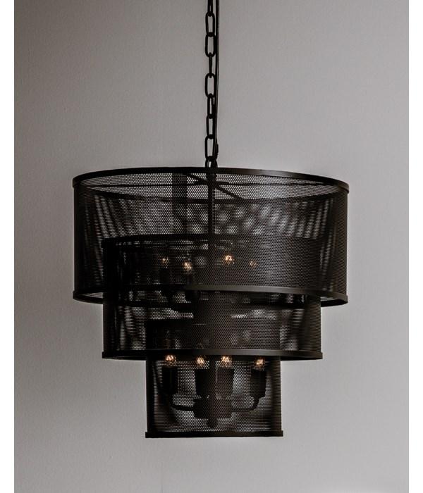 Arena Pendant, Black Steel