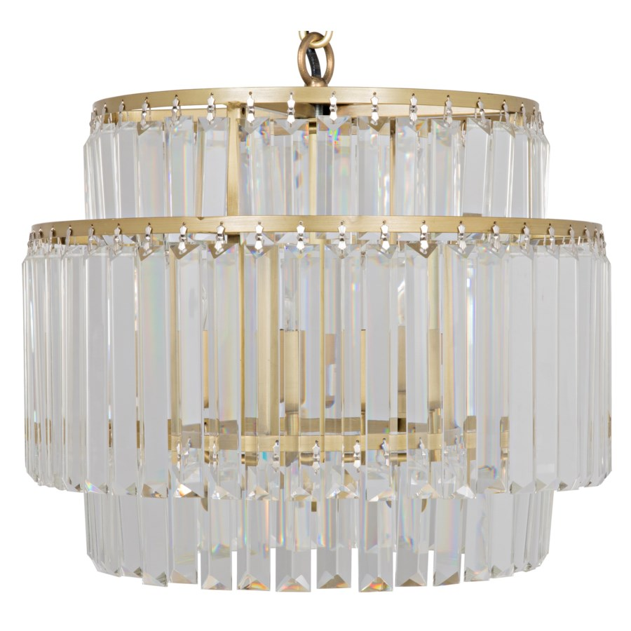 Small Round Deco Chandelier