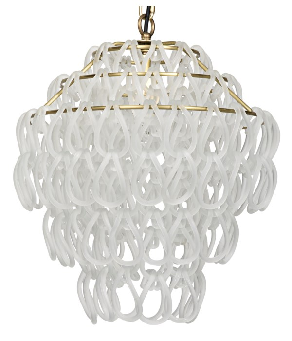 Dolce Vita Lamp, Small, Metal with Brass Finish and Glass