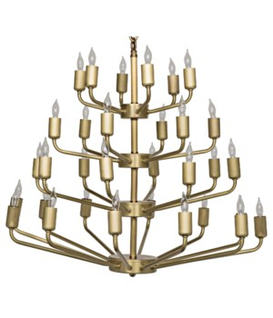 Montoro Chandelier, Antique Brasss