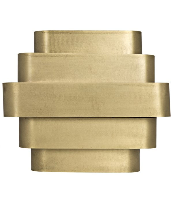 Baas Sconce, Metal with Brass Finish