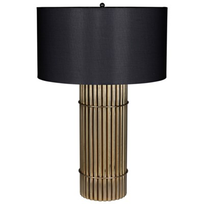 Chloe Lamp With Black Shade Antique Brass Table Lamps