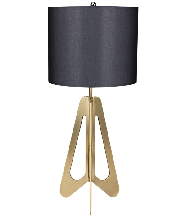 Candis Lamp with Black Shade, Metal with Brass Finish