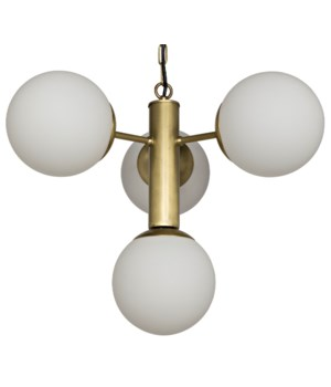 Allen Chandelier, Antique Brass