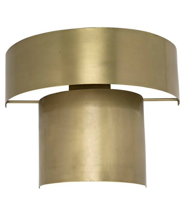 Mathis Sconce, Metal with Brass Finish