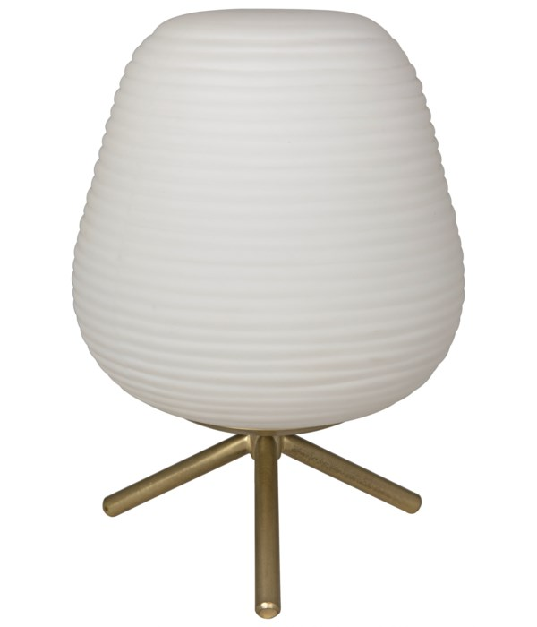 Foka Table Lamp, Metal with Brass Finish