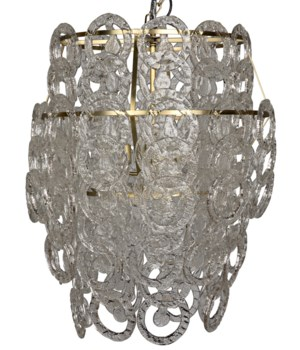 Bolshoi Chandelier, Metal w/ Brass Finish