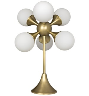 Globular Table Lamp, Antique Brass