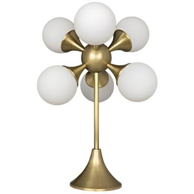Globular Table Lamp, Antique Brass