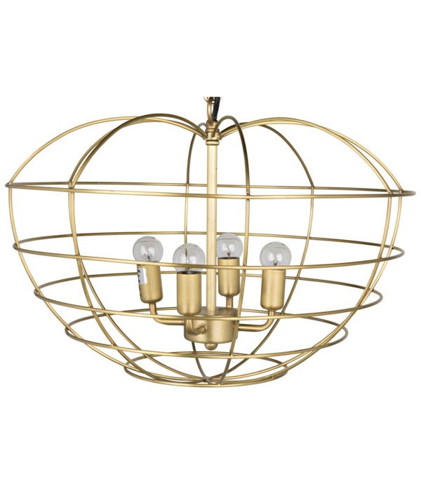 Mo Pendant, Metal with Brass Finish