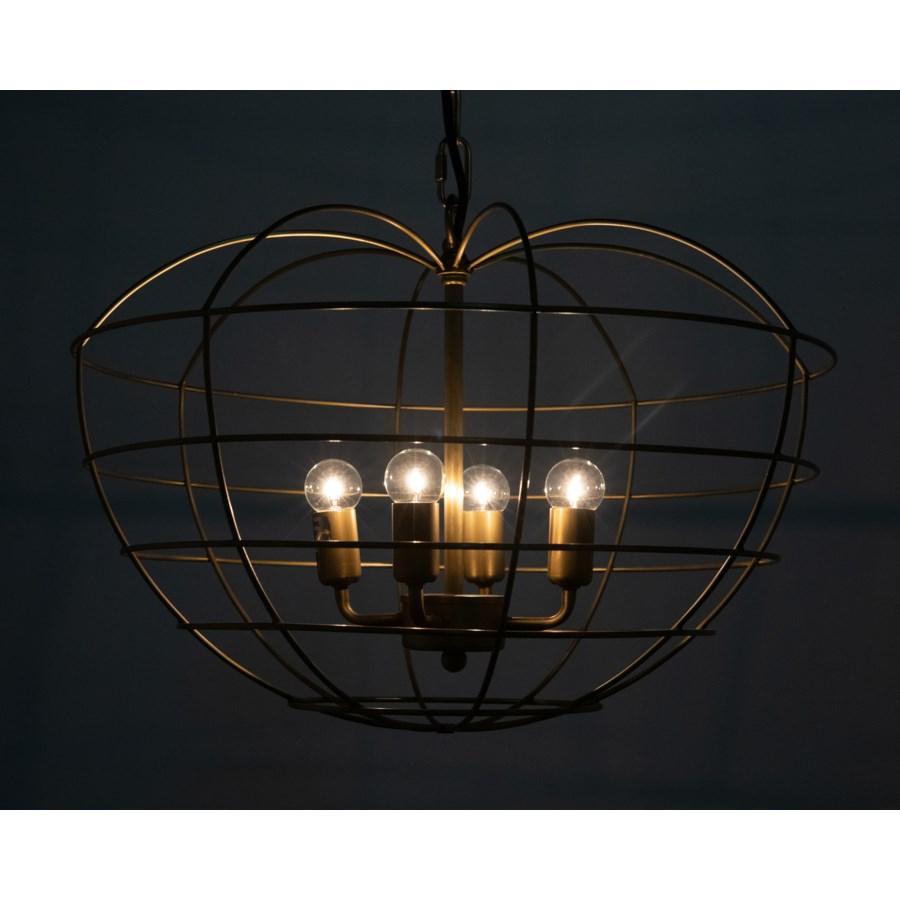 Mo Pendant, Antique Brass