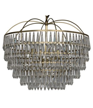 Frazer Chandelier, Antique Brass