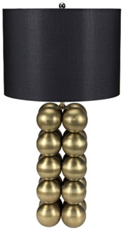 Leo Table Lamp with Shade, Antique Brass