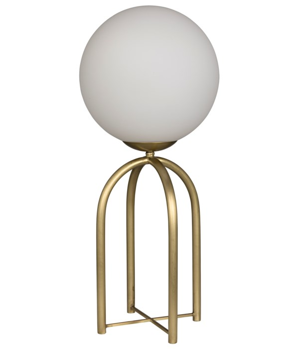 Moriarty Table Lamp, Metal with Brass Finish