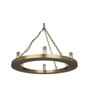 Ciro Chandelier, Antique Brass