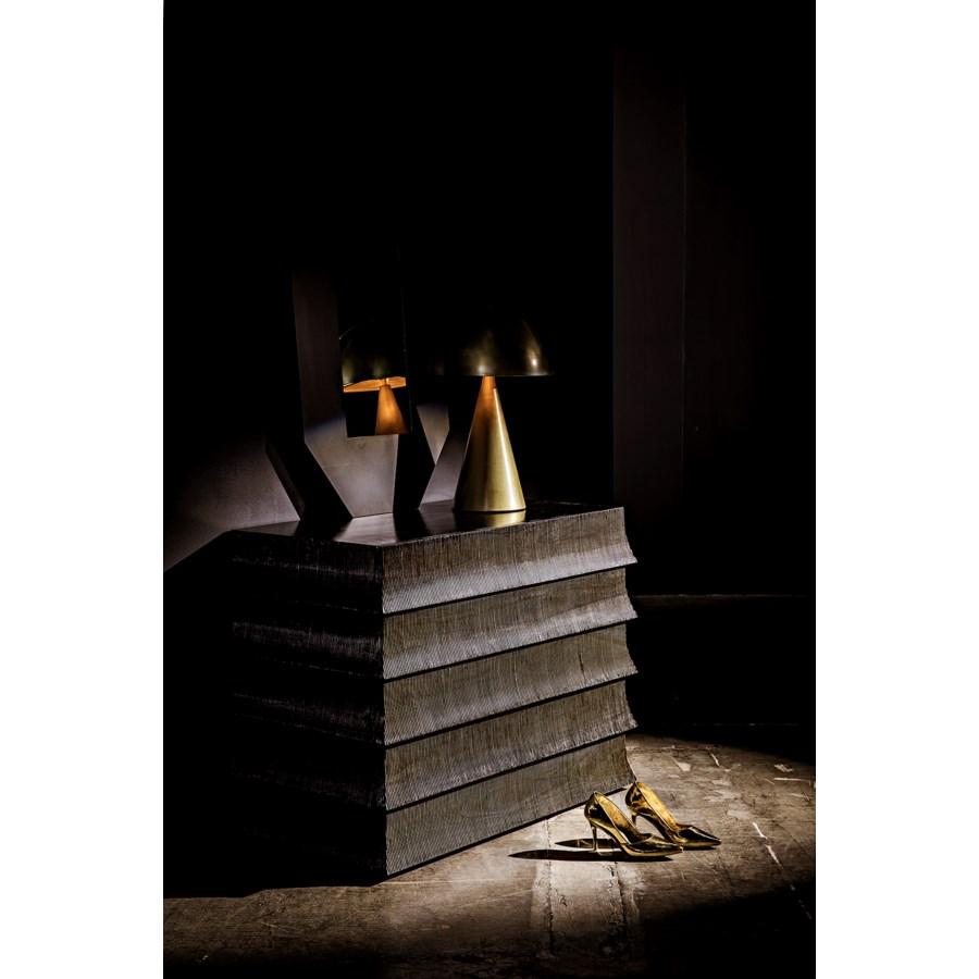 Skuba Table Lamp, Antique Brass
