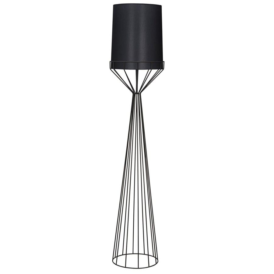 Portal Floor Lamp, A, Black Metal