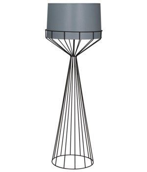 Portal Floor Lamp, B, Black Metal