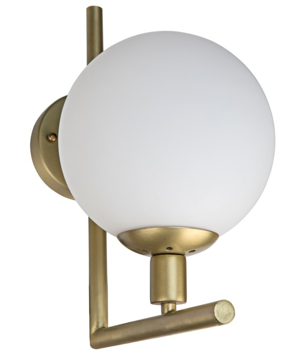 Fiorino Sconce, Metal with Brass Finish