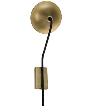 Messala Sconce, Black Metal and Brass Finish