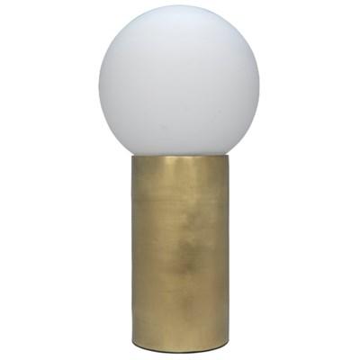 New Luna Lamp, Antique Brass
