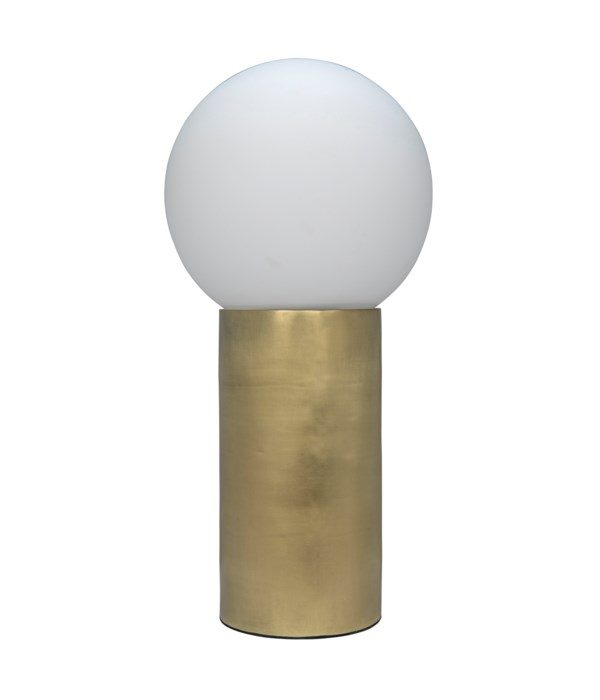 New Luna Lamp, Metal with Brass Finish
