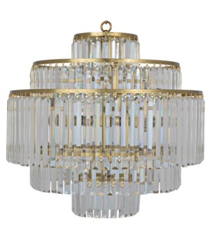 Quintus Chandelier, Antique Brass