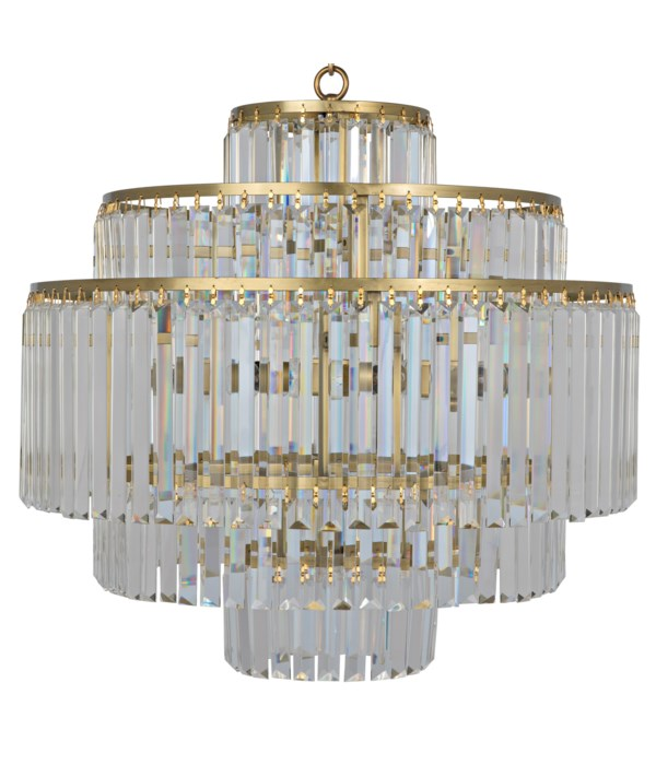 Quintus Chandelier, Metal with Brass Finish