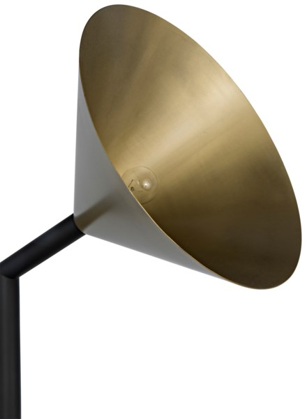 Strato Floor Lamp, Antique Brass