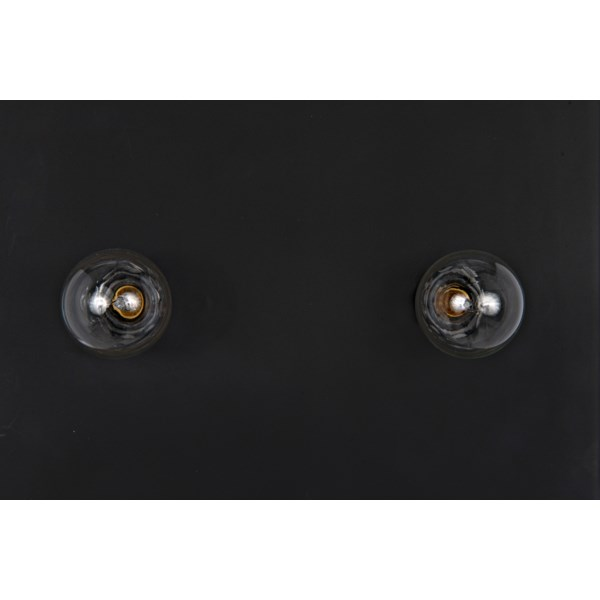 Signal Floor Light with Stand, Black Metal