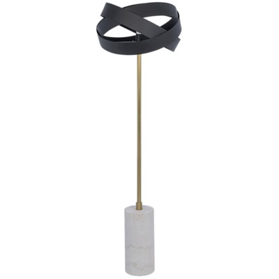 Orion Floor Lamp, Black Metal