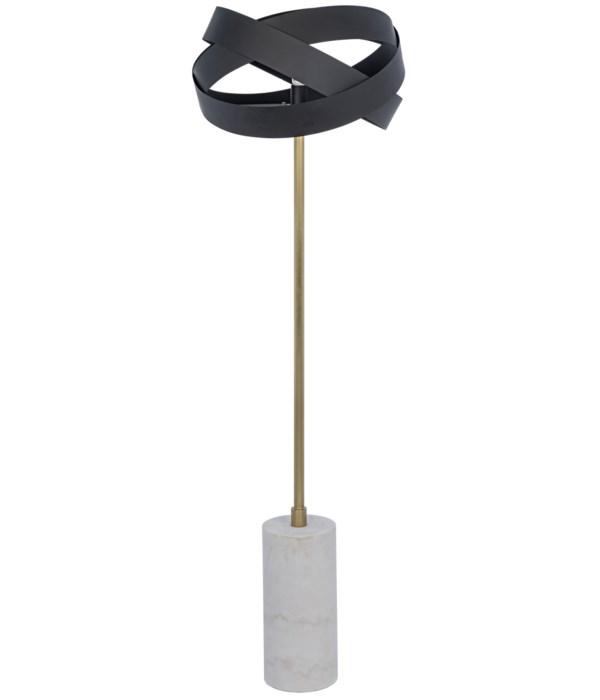 Orion Floor Lamp, Black Steel