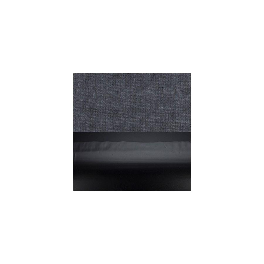 Viola Table Lamp w/Shade, Black Metal