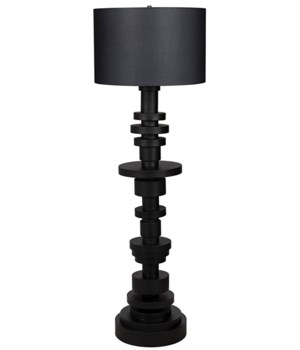 Wilton Floor Lamp w/Shade, Black Metal