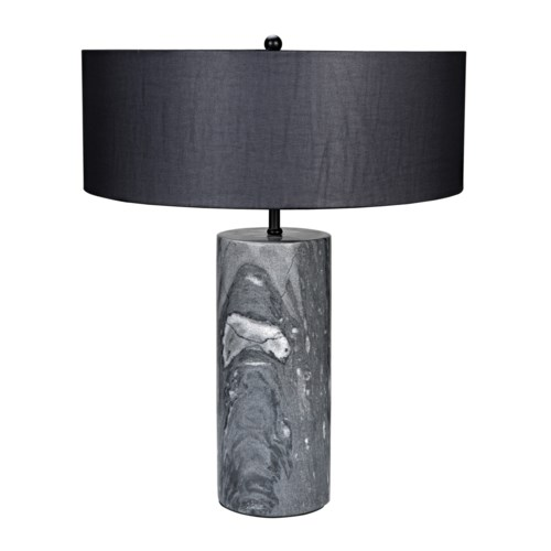 Thomas Table Lamp w/Black Shade