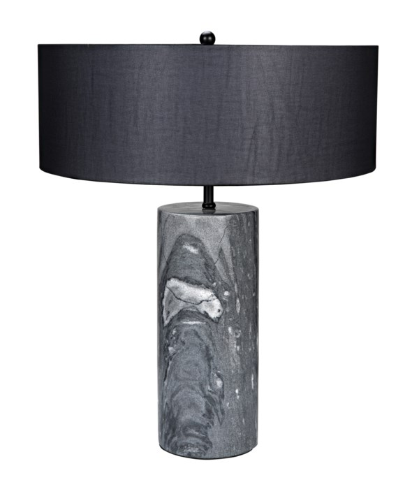 Thomas Table Lamp with Black Shade