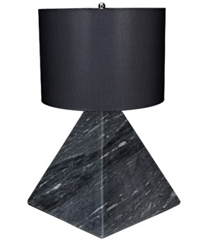 Sheba Table Lamp w/ Black Shade