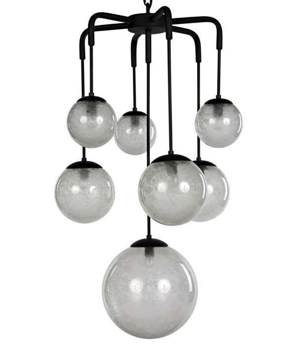 Artemis Chadelier, Steel with Black Finish